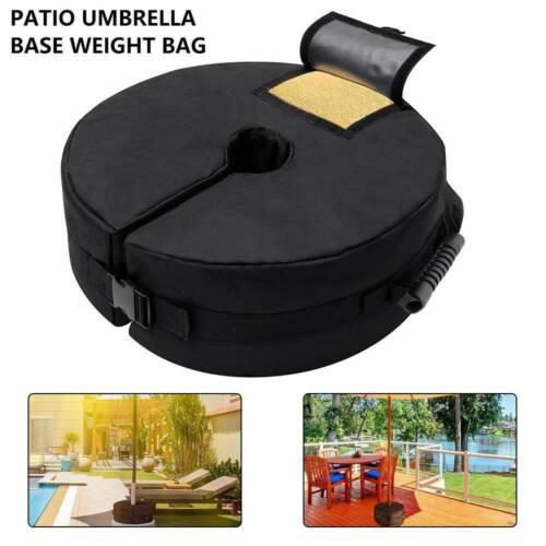 Outdoor Umbrella Parasol Base Weight Bag Round Garden Patio Tent Sandbag to 90LB