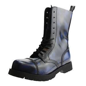 Rubb Bleu 10 Boots Trous off Braces amp; 1nBIIwxqX