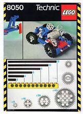 LEGO    TECHNIC   8050   LIBRETTO   NOTICE / INSTRUCTIONS BOOKLET / BAUANLEITUNG