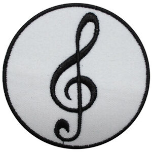 Music Sign Note Iron on Patch Sew On Badge Embroidered Cloth Patch