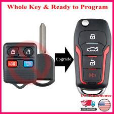 Flip Remote Key Fob For 2008 2009 2010 2011 2012 2013 2014 Ford Escape Explorer Fits Mazda