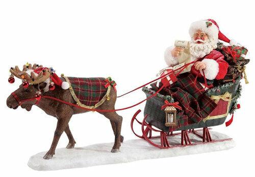 Possible Dreams Santa Figurine - Christmoosetime 6003856