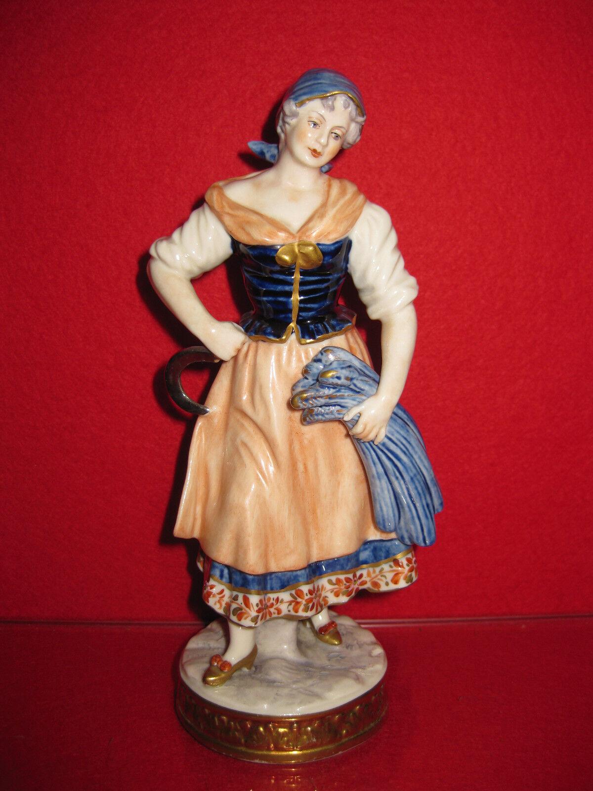 Unterweissbach Bauer Tänzerin Sense Kaendler Kaendler Kaendler Frau Figur Porzellan Musik kobalt 25062a