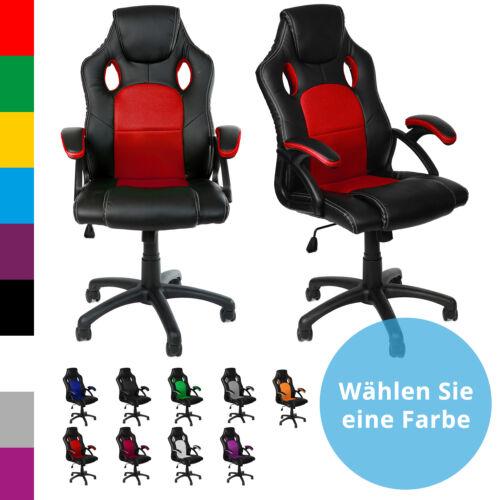 Racing Chefsessel Bürostuhl Drehstuhl Sportsitz Gamingstuhl Schreibtischstuhl