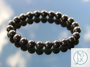 Jet Natural Gemstone Bracelet 6-9'' Elasticated Healing Stone Chakra Reiki