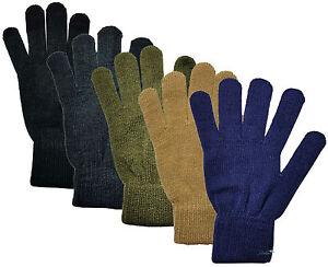 HOMMES-FIN-tricote-THERMIQUE-couleur-unie-GANTS-HIVER-CHAUD