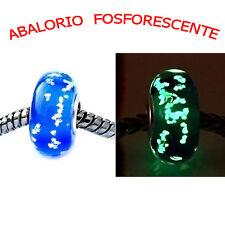 Abalorio/Charm/Fosforescente/Tipo-Estilo-Pulsera-Cristal Murano,Nucleo-plata 925