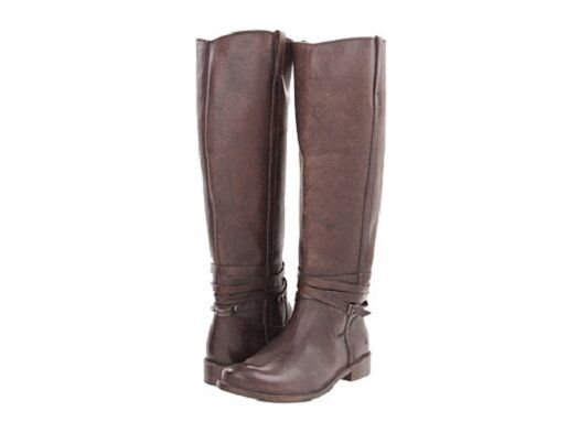 New Women's Frye Shirley Riding Plate Dark Brown Stone Wash Boots 6, 6.5 and 7