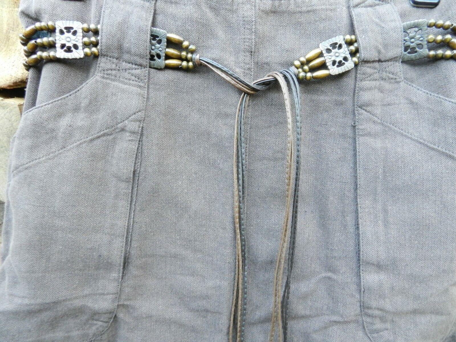 Marlboro Classics Label Bells Leisure Skirt Linen it Size 44 de Size 38 Brown