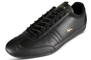 97f778b60 Lacoste Misano 119 2 U CMA Men s Casual Leather Sneakers Black 7 ...