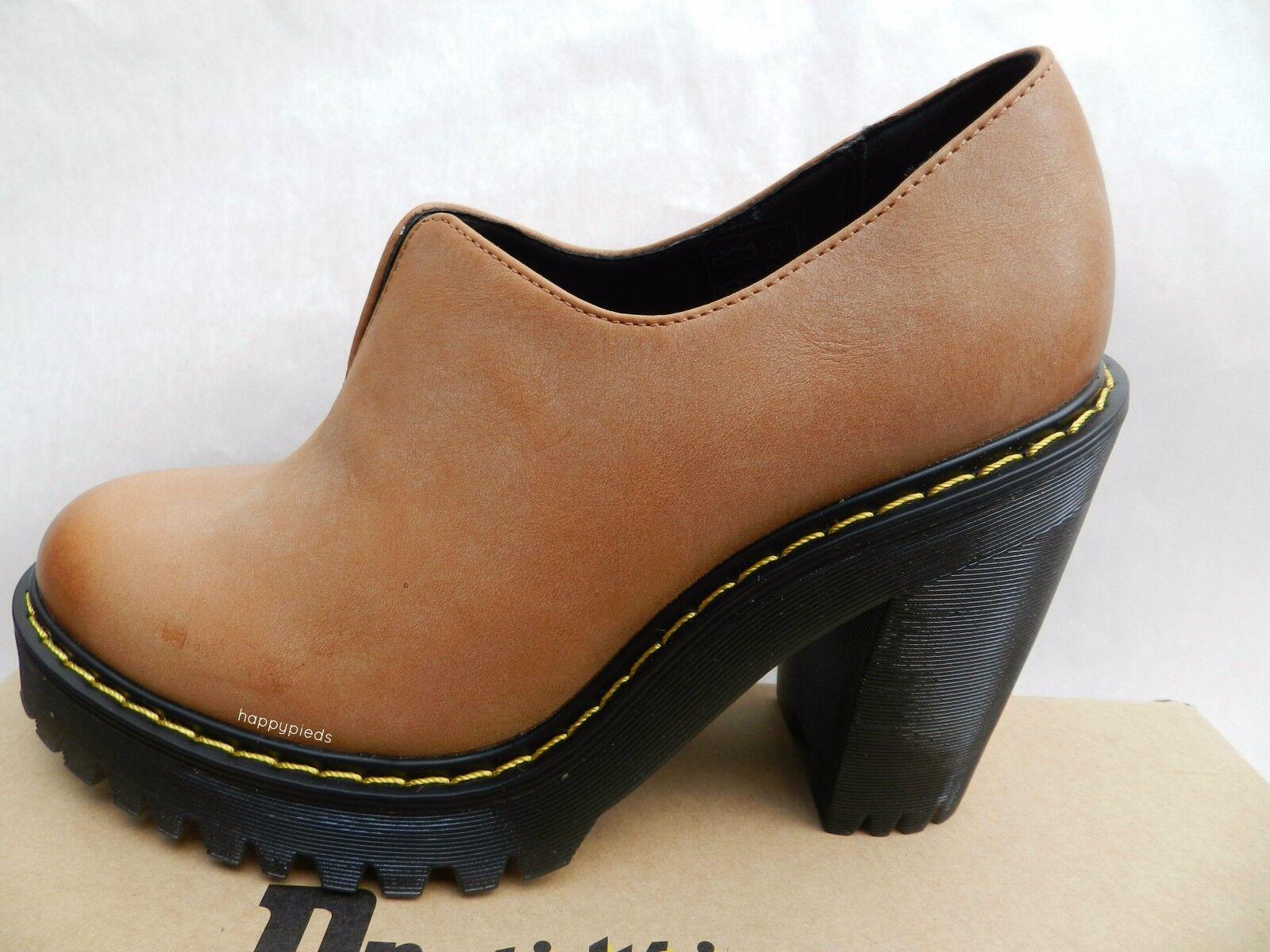 Dr Martens Cordelia zapatos Femme 40 Escarpins Salome Brun Compensé UK6.5 New