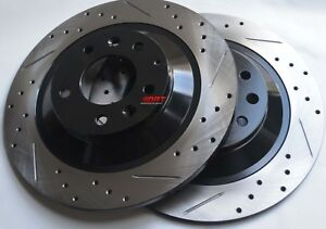 Fits-Mazdaspeed-3-Drill-Slot-or-Slot-Brake-Rotors-Premium-Grade-Rear-Pair