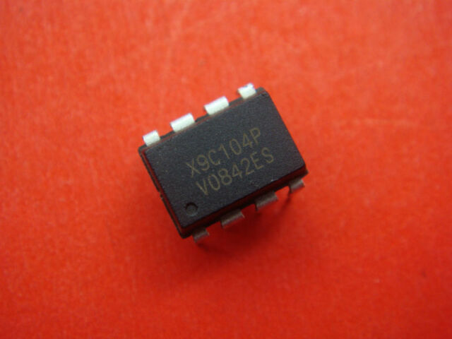 2PCS NEW X9C104P DIP-8 X9C104 Digital Potentiometer IC NEW