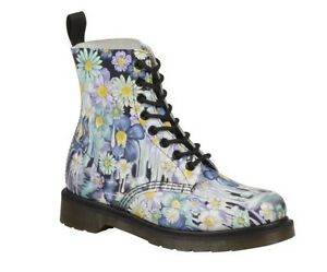 8 Schuhe Loch Exklusiv Dr Blumenmuster Design martens Damen Stiefel Pascal ESggqZw