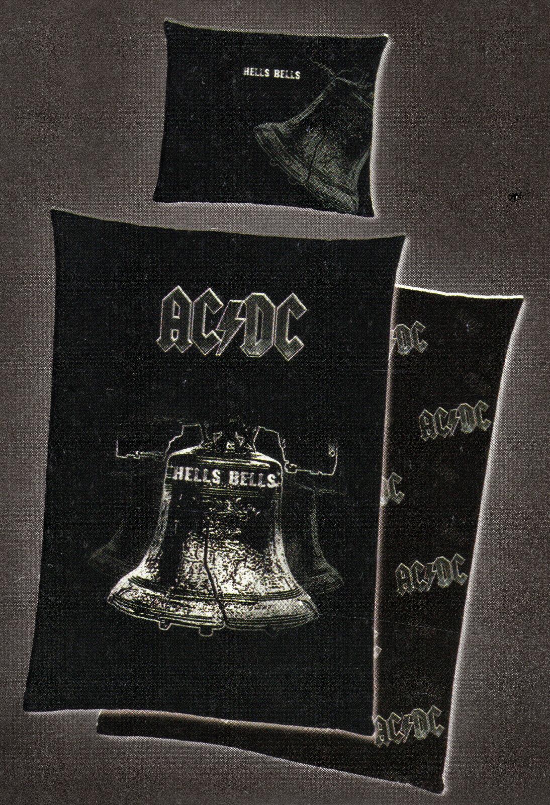 Bettwäsche AC DC Hells Bells - 135 x 200cm + 80 x 80cm - Baumwolle Renforcé ACDC