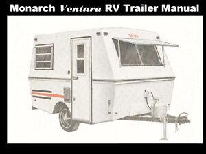 monarch ventura camper trailer manuals 185pg w rv appliance service rh ebay com rv fridge manual RV Small Appliances