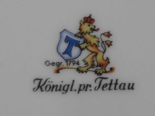 Königlich Pr Tettau Princess Weiß Speiseteller 25 cm flacher Teller
