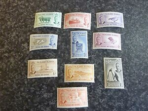 FALKLAND-ISLANDS-POSTAGE-amp-REVENUE-STAMPS-SG172-181-LIGHTLY-MOUNTED-MINT