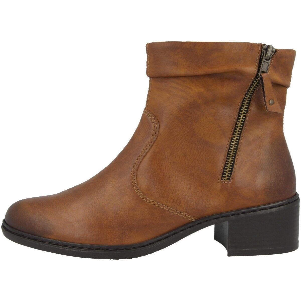 Rieker antistress women eagle shoes women boots brown booties 77672-24