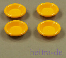 LEGO Friends / Belville - 4 x Teller 3x3 hell orange / Dish / 6256 NEUWARE