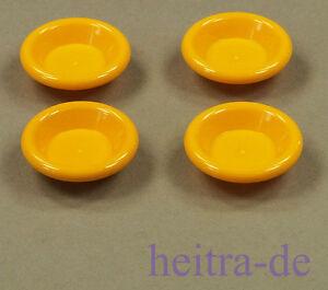 LEGO-Friends-Belville-4-x-Teller-3x3-hell-orange-Dish-6256-NEUWARE-a4