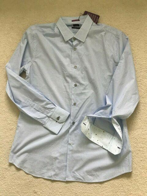"""Paul Smith LONDON LS Shirt - Size 17 / 43 - SLIM fit -  p2p 22.5"""""""