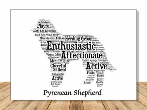 Personalize Dog Lover Gift for Custom Pet Portrait Pyrenean Shepherd