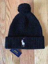 item 3 NWT POLO Ralph Lauren Wool Knit Beanie Men s Hat Pony Logo Black  Navy Blue Gray -NWT POLO Ralph Lauren Wool Knit Beanie Men s Hat Pony Logo  Black ... c0d7f42ff59b