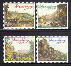 LUXEMBURGO-LUXEMBOURG-1990-MNH-SC-826-829-Fortress-of-Luxembourg