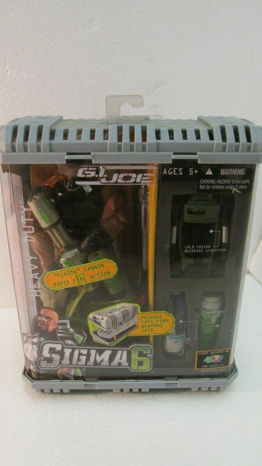 G.I. Joe Sigma 6 Code Name Heavy Duty With Plasma Cannon By Hasbro 2005 nuovo t307