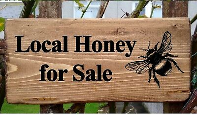 Personalised Wood Effect Metal Plaque for all Beekeepers Bee Sign