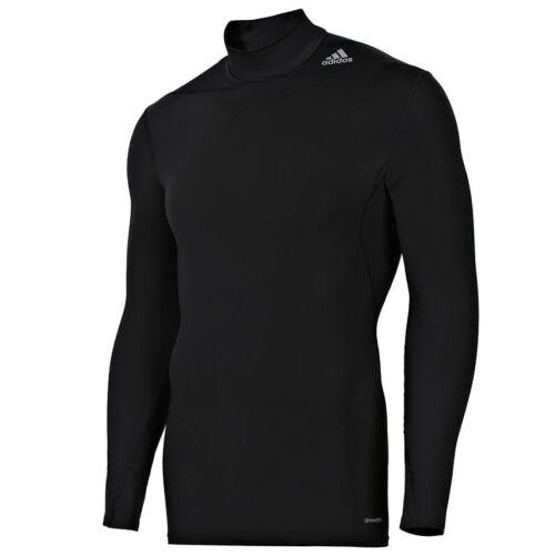 Laufshirt warm adidas Techfit MOC schwarz Funktionsshirt Gr.XS,S,M,L,XL,3XL