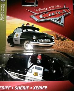 Disney Pixar Cars 3 Sheriff Diecast Toy Car 1:55 New Mattel