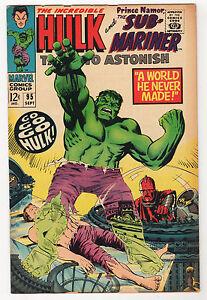 Tales-to-Astonish-95-VG-incredible-HULK-Sub-Mariner-High-Evolutionary-sep-1967
