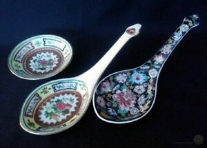 Late-c20th-Zhongguo-Jingdezhen-Ladles-and-Trinket-Dish-FREE-Delivery-UK