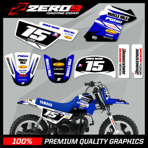 Details about YAMAHA PW50 CUSTOM MX GRAPHICS MOTOCROSS GRAPHICS TEAM ISSUE  WHITE / BLUE