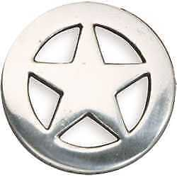 Tandy Leather Leathercraft Round Ranger Star Silver Finish Concho 7993-05