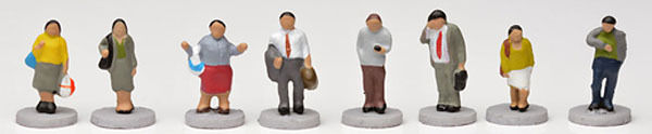 """Tomytec (Ningen with Base) Model People """"People on the Street"""" 1/150 N scale"""