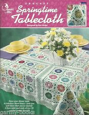 Springtime Tablecloth Crochet Thread Pattern Dot Drake Annie's Attic 1999 NEW