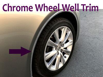 PONTIAC 1996-2010 4PCS wheel well fender bumper chrome molding trim