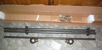 Pewter Canopy Boule Drapery Rod Adjustable 84 - 120 More Available