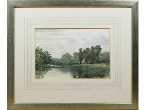 River-Landscape-Early-20th-Century-British-Watercolour-Painting