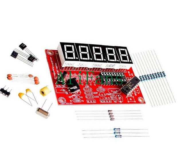1Hz-50MHz Crystal Oscillator Frequency Counter Meter Kits Digital LED DIY Sets