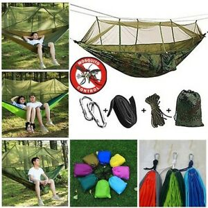 New-Premium-Parachute-Cloth-Travel-Camping-Survival-Hammock-with-Mosquito-Net-US