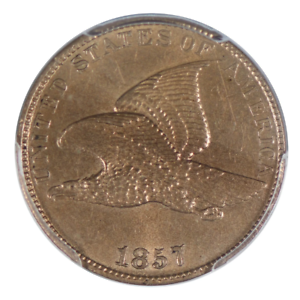 1857-Flying-Eagle-Cent-PCGS-MS62