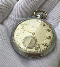 Rare Zenith Chronometre Pocket Watch Subdial 17-28-1