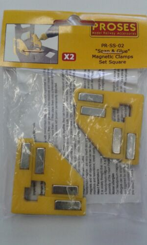Snap&glue Quadrat (2 Magnetisch Klemmen/8 Magnete) - Proses Pr-Ss-02