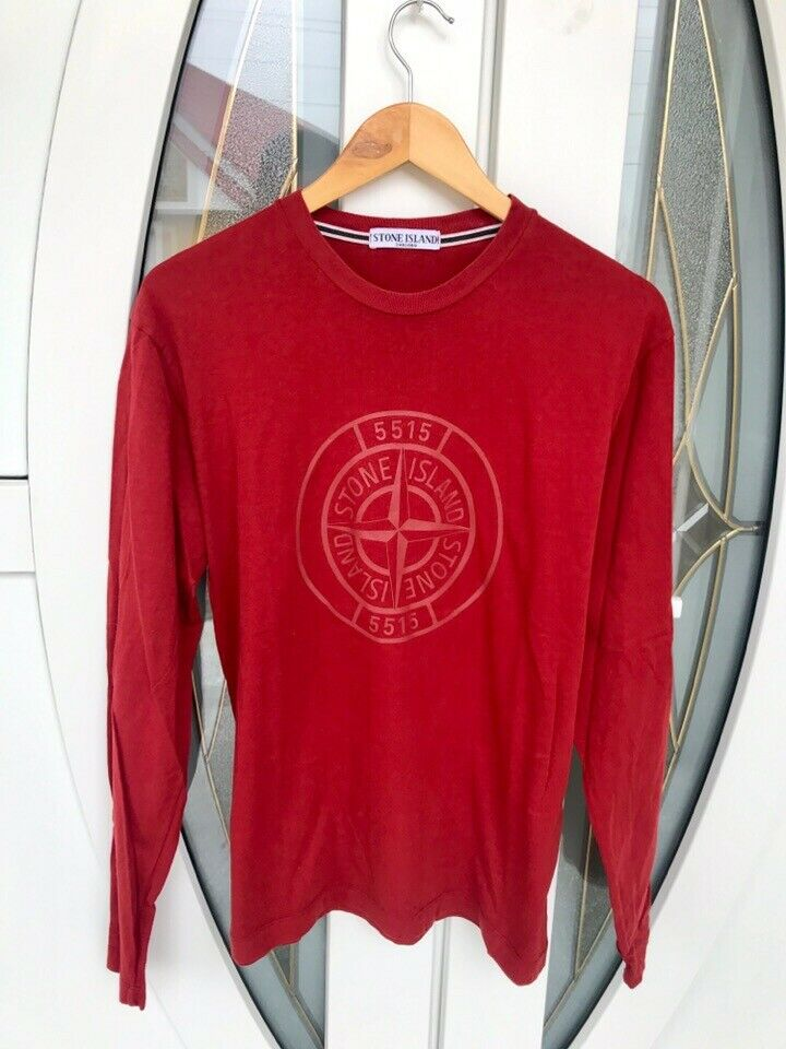 Mens Stone Island Jumper Red Large Great Condition