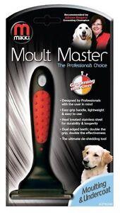 MIKKI MOULT MASTER DOG DESHEDDING UNDERCOAT BRUSH BLADE SMALL/LARGE NEW