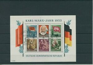 Germany-GDR-DDR-R-d-a-Vintage-1953-Mi-Bloc-8-A-Timbres-Used-Plus-Sh-Boutique